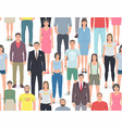 group of people seamless pattern vector image vector image