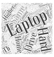 Laptops Coming With TB Hard Drives Word Cloud vector image