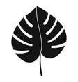 leaf of monstera icon simple style vector image vector image