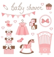 Little lady baby shower vector image