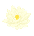 lotus flower painted in graphic style isolated vector image vector image