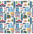 Modern city seamless pattern background vector image