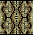 modern creative 3d greek seamless pattern vector image vector image