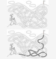 mountaineer maze vector image