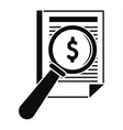 payment paper icon simple style vector image vector image