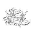 quality assurance hand drawn isolated on white
