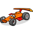 racing car bolide cartoon vector image