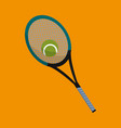 racket and ball object to play tennis vector image vector image