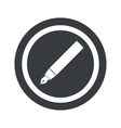Round black ink pen sign vector image vector image