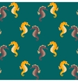 Sea horses seamless pattern vector image