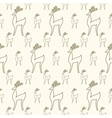 Seamless cartoon deer background vector image vector image