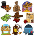 set color on theme wild west vector image vector image