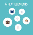 set of trade icons flat style symbols with vector image