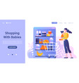 shopping with kids abstract concept vector image