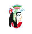 sketch marker drawing of egyptian goddess vector image
