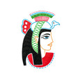 sketch marker drawing of egyptian goddess with a vector image vector image
