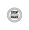 stop police road sign icon vector image