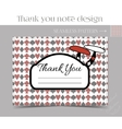 Thank you Note - Mushroom from Wonderland vector image vector image