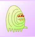 toothy cartoon monster centipede vector image vector image