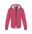 unisex down jacket flat style vector image vector image