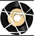vinyl record with music label vector image vector image
