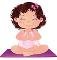 young cute pregnant woman practicing yoga vector image vector image