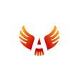 air wings symbol logo vector image