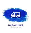 ambulance icon - blue watercolor background vector image vector image
