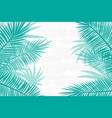 beautiful palm tree leaf background vector image
