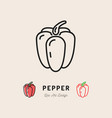 bell pepper icon vegetables logo thin line vector image vector image