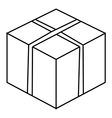 Big box icon outline style vector image vector image