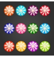 Big set with striped candy vector image vector image