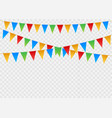 birthday party invitation banners set flag vector image vector image