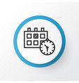 calendar time icon symbol premium quality vector image vector image