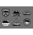 Camping logos set outdoor emblems labels vector image vector image
