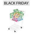 Computer Motherboard in Black Friday Shopping Cart vector image vector image
