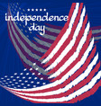 congratulation independence day with flag on blue vector image vector image