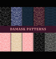 damask vintage seamless pattern collection vector image