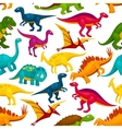 Dinosaur jurassic animal monster seamless pattern vector image vector image
