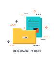 documentation folder concept vector image vector image