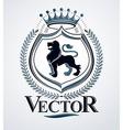 emblem vintage heraldic design vector image vector image