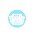 equal employment opportunity commission eeoc vector image