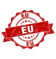 eu round ribbon seal vector image vector image