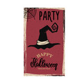 flyer template halloween party witch hat on vector image vector image