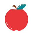 fruit apple fresh nutrition diet flat style icon vector image