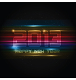 Futuristic New Year background vector image vector image