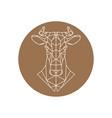 geometric head of a cow farm animal vector image