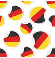 germany flag sticker seamless pattern background vector image