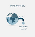 globewater drop and water tap iconglobe vector image vector image