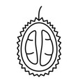 half fresh durian icon outline style vector image vector image